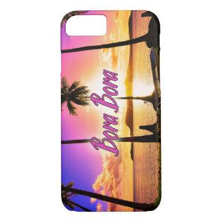 Funda Para iPhone 8/7 el iPhone/Samsung encajona: Puesta del sol Bora
