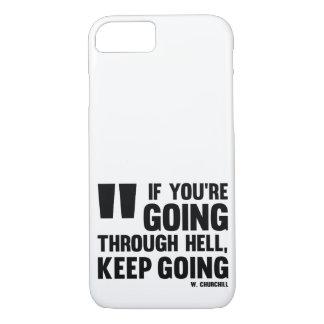 Funda Para iPhone 8/7 ¡El ir Keep! Caso * caso del iPhone * motivación