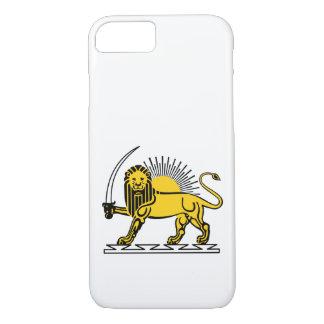 Funda Para iPhone 8/7 El león y el Sun, emblema de Irán