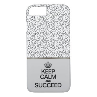 Funda Para iPhone 8/7 El modelo del remolino/guarda calma y tiene éxito