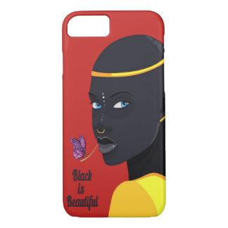 Funda Para iPhone 8/7 El negro es caso hermoso