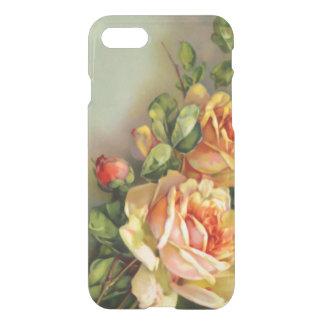 Funda Para iPhone 8/7 El oro del vintage y se ruboriza los rosas