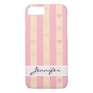 Funda Para iPhone 8/7 El rosa elegante raya el modelo moderno del