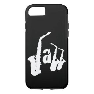 Funda Para iPhone 8/7 El saxofón del jazz de W elige el fondo Iphone