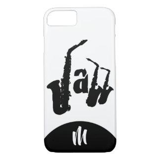 Funda Para iPhone 8/7 El saxofón negro del jazz elige el caso de Iphone