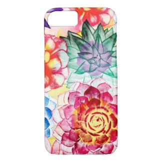 Funda Para iPhone 8/7 El Succulent colorido planta la acuarela artsy