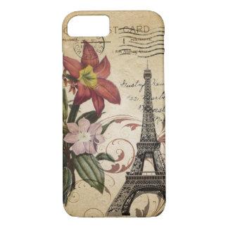 Funda Para iPhone 8/7 El vintage botánico del lirio scripts la torre