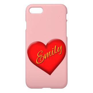 Funda Para iPhone 8/7 Emily con el corazón
