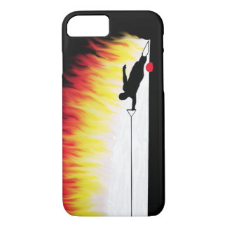 Funda Para iPhone 8/7 Esquiador del agua del eslalom con las llamas