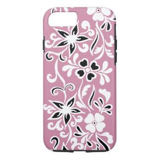Funda Para iPhone 8/7 Estampado de flores negro y blanco adaptable en