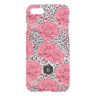 Funda Para iPhone 8/7 Estampado leopardo salvaje de los rosas rosados