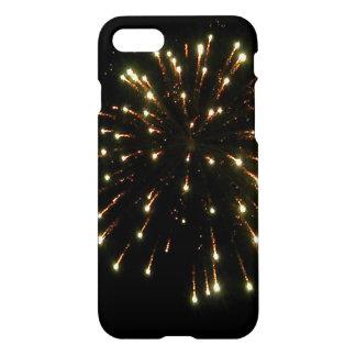 Funda Para iPhone 8/7 Explosión de los fuegos artificiales del oro