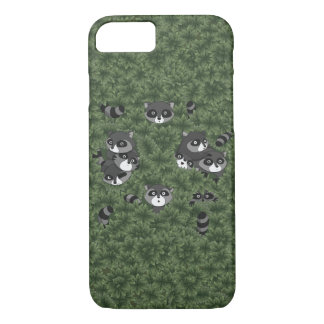 Funda Para iPhone 8/7 Familia del mapache en Bush