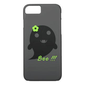 """Funda Para iPhone 8/7 Fantasma lindo con la flor y la palabra """"abucheo """""""