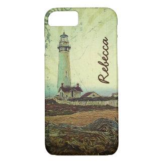 Funda Para iPhone 8/7 Faro elegante costero del paisaje de la pintura al