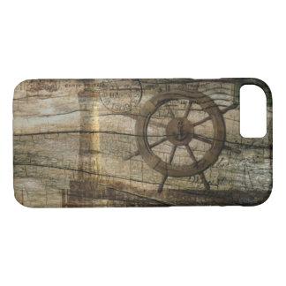 Funda Para iPhone 8/7 Faro náutico costero primitivo de la rueda del