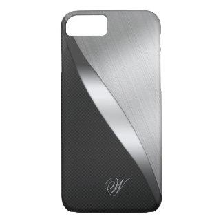 Funda Para iPhone 8/7 Fibra de carbono y metal cepillado