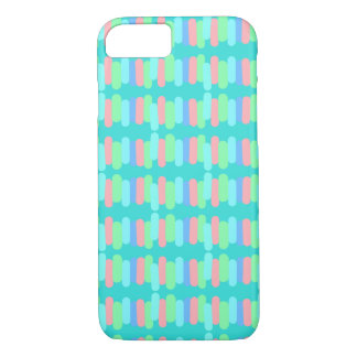 Funda Para iPhone 8/7 Filas de mini rayas en colores pastel