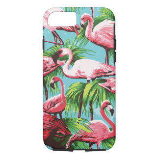 Funda Para iPhone 8/7 Flamencos rosados retros frescos