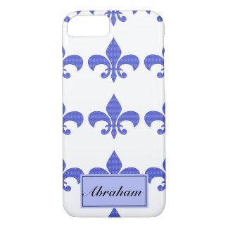Funda Para iPhone 8/7 Flor de lis del azul del vintage