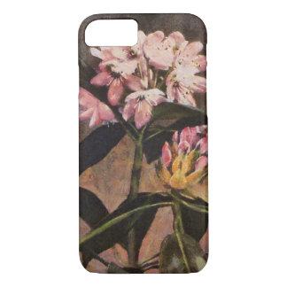 Funda Para iPhone 8/7 Floraciones florales pintadas rosa del rododendro