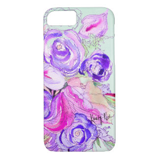 Funda Para iPhone 8/7 Floraciones púrpuras