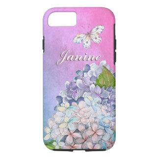 Funda Para iPhone 8/7 Floraciones soñadoras del Hydrangea de la lila