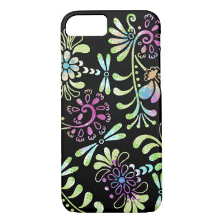 Funda Para iPhone 8/7 Flores abstractas del verde y del rosa
