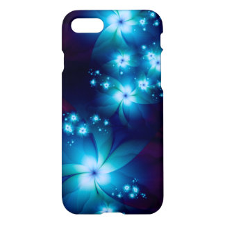 Funda Para iPhone 8/7 Flores azules elegantes del fractal