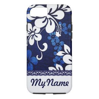 Funda Para iPhone 8/7 Flores azules personalizadas de Hawaii