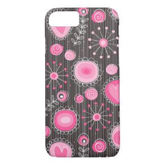 Funda Para iPhone 8/7 Flores caprichosas en caso rosado del iPhone 7