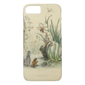 Funda Para iPhone 8/7 Flores de la fantasía del Victorian - narciso