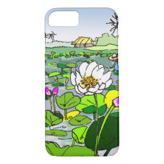 Funda Para iPhone 8/7 Flores de loto lindas en caso del teléfono de la