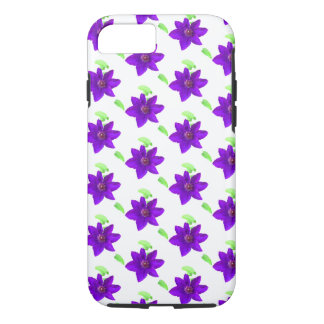Funda Para iPhone 8/7 Flores púrpuras - caso modelado del iPhone