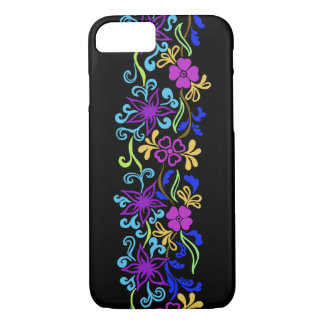 Funda Para iPhone 8/7 Flores vibrantes, coloridas con las hojas y