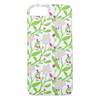 Funda Para iPhone 8/7 Flores y bayas grandes