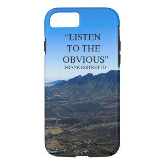 Funda Para iPhone 8/7 Foto de montañas en Stellenbosch con un qoute.