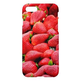 Funda Para iPhone 8/7 fotografía rosada oscura deliciosa de las fresas