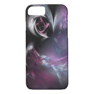 Funda Para iPhone 8/7 Fractal color de rosa rosado bonito