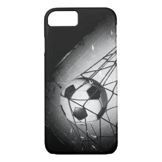 Funda Para iPhone 8/7 Fútbol fresco del Grunge del vintage en meta