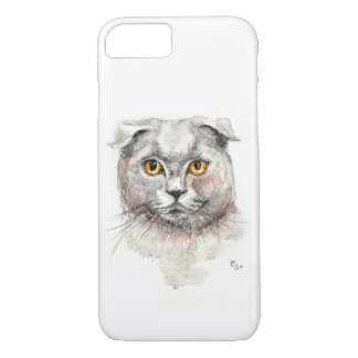 Funda Para iPhone 8/7 Gato del doblez del escocés