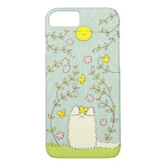 Funda Para iPhone 8/7 Gato mullido y Sun amarillo