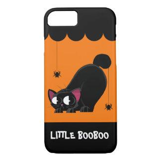 Funda Para iPhone 8/7 Gato negro y araña de Halloween