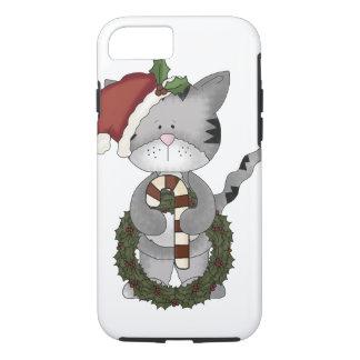 Funda Para iPhone 8/7 Gato Santa del navidad