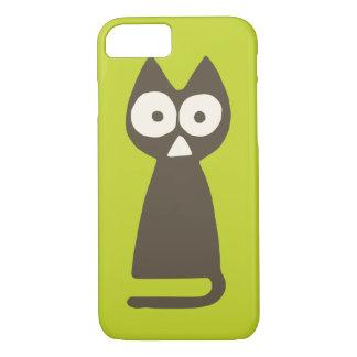 Funda Para iPhone 8/7 Gato verde del triángulo de Matcha Brown