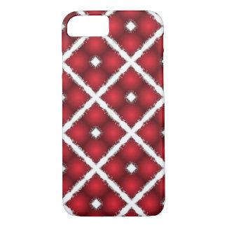 Funda Para iPhone 8/7 Globos rojos, modelo retro de los Rhombus blancos