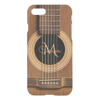 Funda Para iPhone 8/7 Guitarra acústica de madera caliente