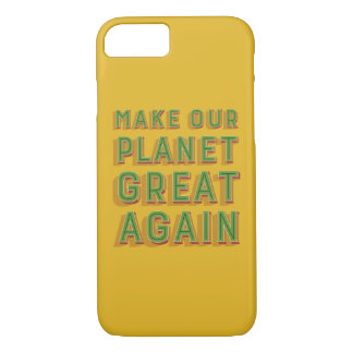 Funda Para iPhone 8/7 Haga nuestro planeta grande otra vez. caso del