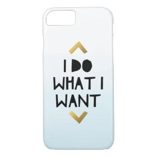 Funda Para iPhone 8/7 Hago lo que quiero la caja azul del teléfono de