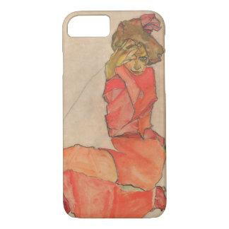 Funda Para iPhone 8/7 Hembra de arrodillamiento de Egon Schiele en